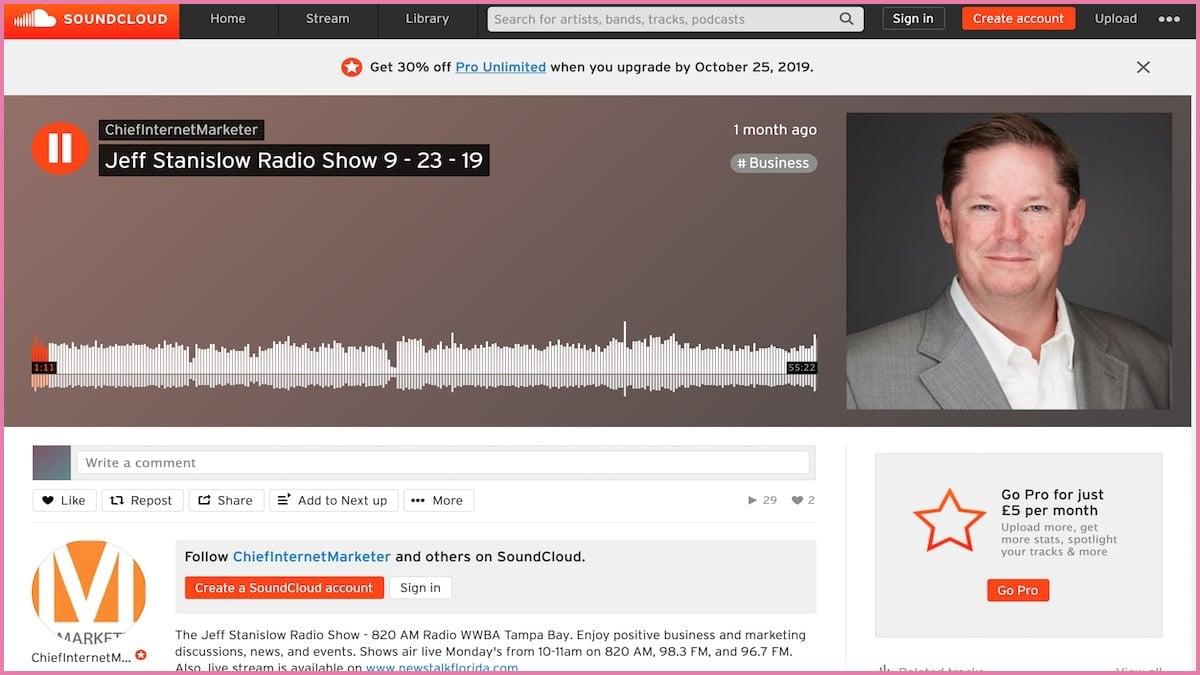 The Jeff Stanislow Radio Show on 9/23/19